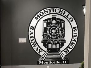 Monticello Railway Museum Logo Painting