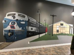 Monticello Railway Museum Painting